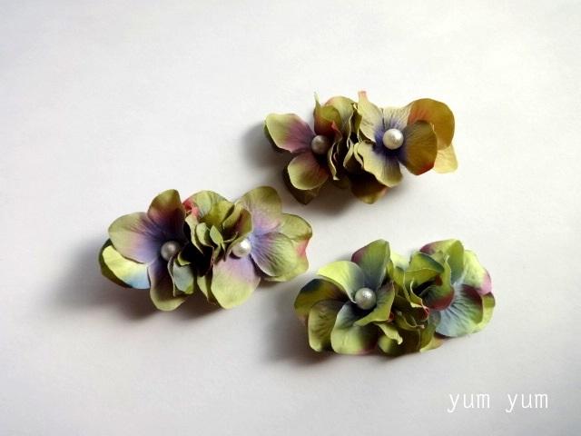 アンティーク紫陽花ヘアクリップ