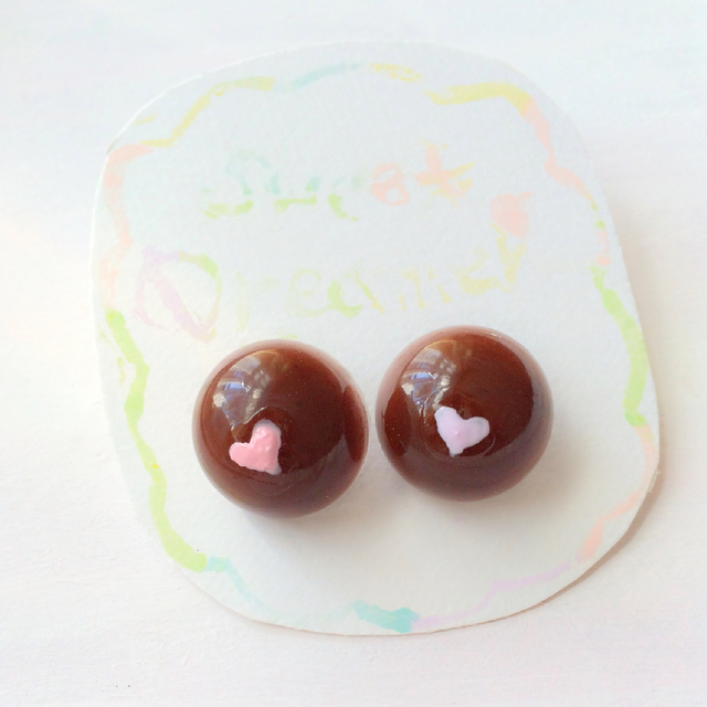 dreamy  chocolate ピアス