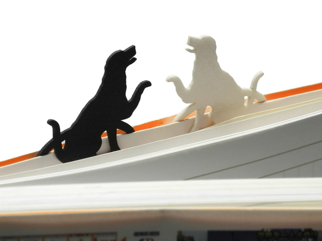 おまたせしました犬のブックマーク・・白犬 / 黒犬 セット