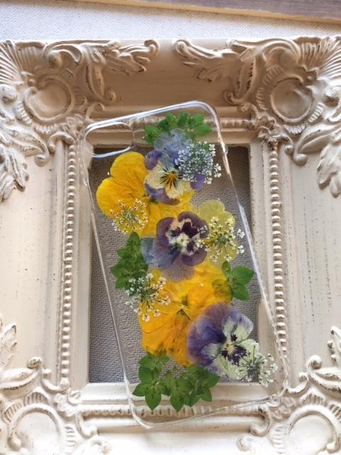 iphone7/6/6S ビタミンカラーの押し花の...