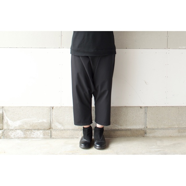 RAISED  FABRIC SARROUEL PANTS BLACK【...