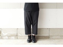 RAISED  FABRIC SARROUEL PANTS BLACK【S~M】