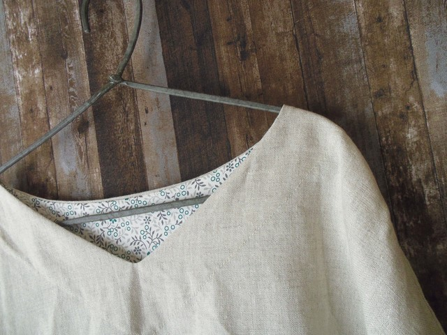 リネンシンプルシャツ natural