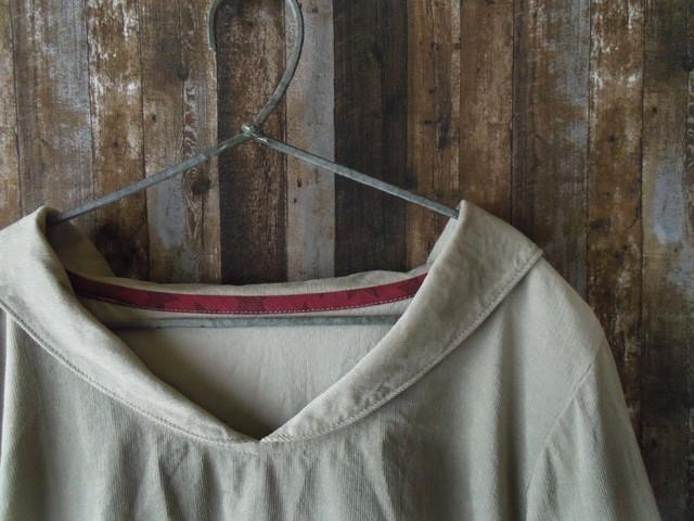 Msize 小さなセーラー襟のシャツ 九分袖...
