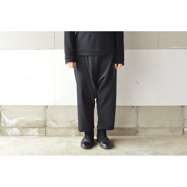RAISED  FABRIC SARROUEL PANTS BLACK【M~L】