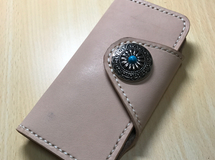 iPhone6/6S iPhone7 栃木レザー 手帳型 革カバー