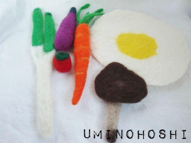 羊毛のお野菜と目玉焼きセット(送料込)
