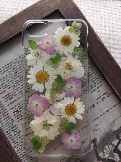 iphone7/6/6S 紫陽花とノースポールの押...