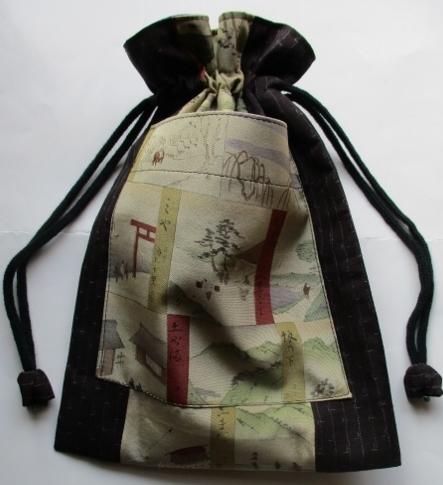 着物リメイク 長襦袢と着物で作った巾...