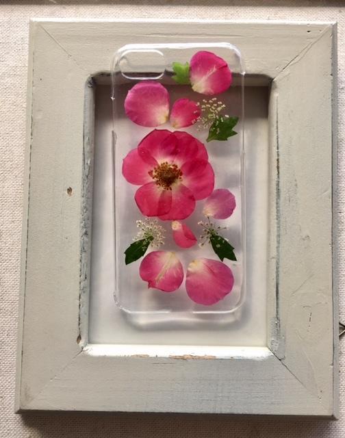 iphone7/6/6S ばらの押し花のケース