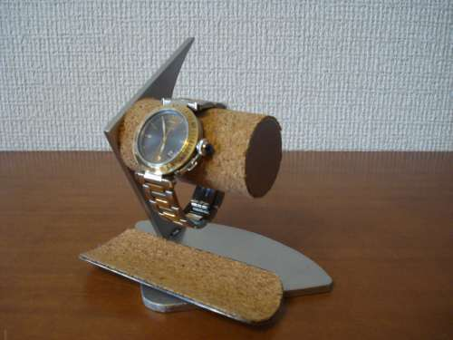 2本掛けデザイン腕時計スタンド三角台座...