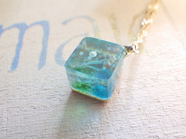 ?再販?Ocean Cube necklace