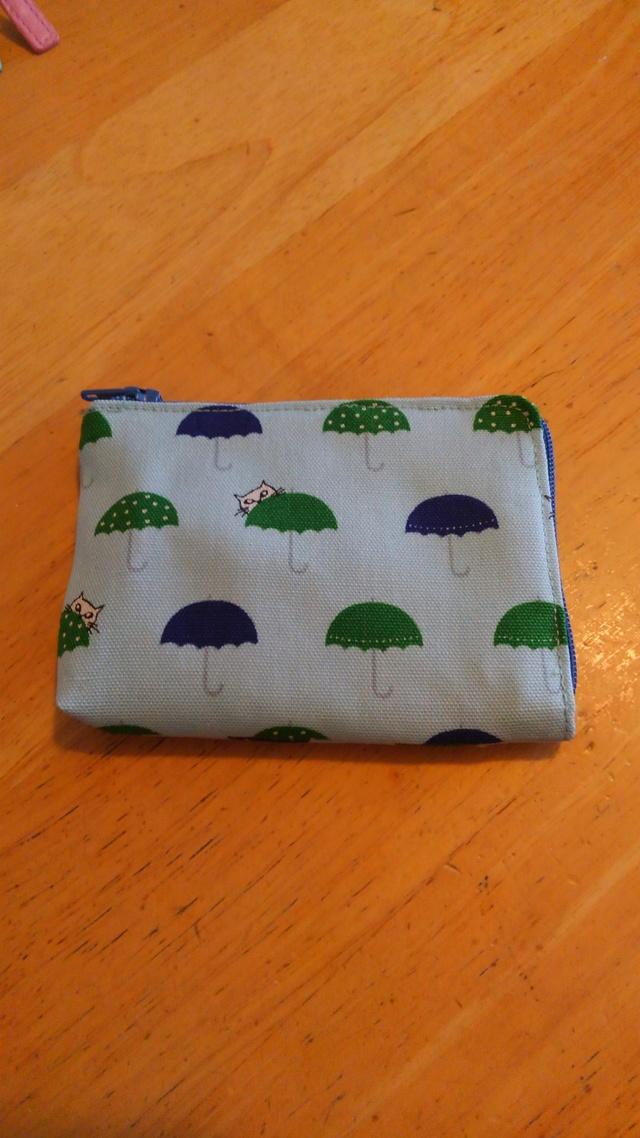 カード入れ【送料無料】かさ猫 水色×紺緑