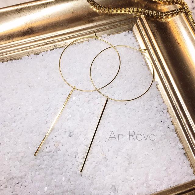 ◇ metal stick hoop pierce ◇