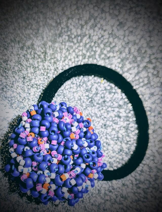 色の密着ヘアゴム  Blue