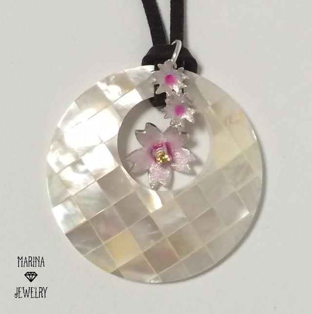 桜並木 -silver- 3wayネックレス