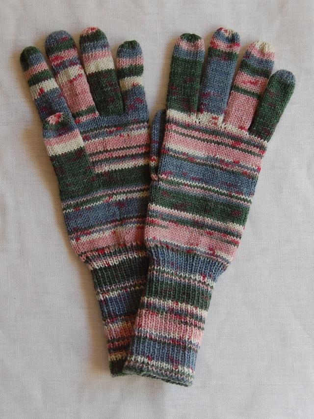 手編み5本指手袋 No.53
