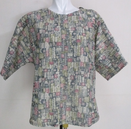 着物リメイク 着物で作ったプルオーバ...