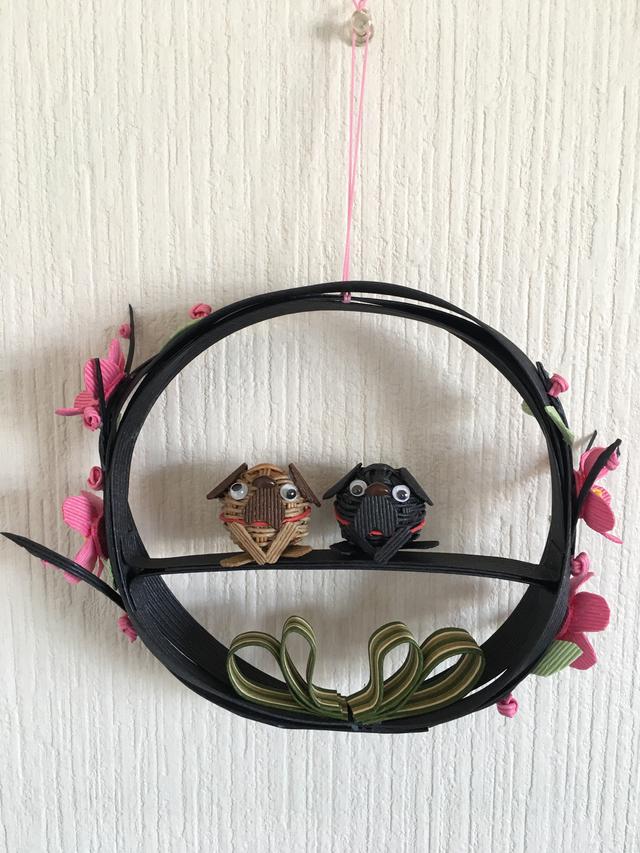 《新作》おとぼけパグのお花つき壁飾り...