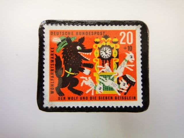 ドイツ おおかみと7匹のこやぎ切手ブロ...