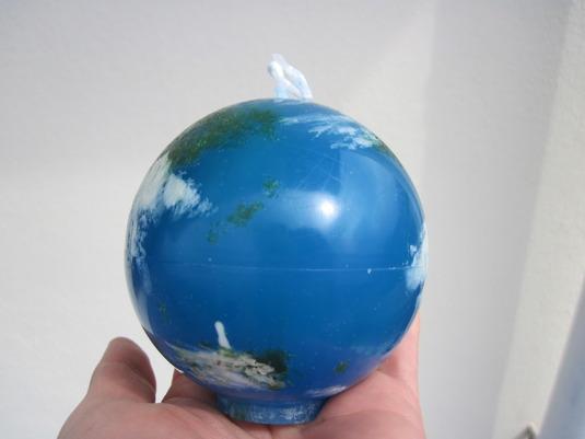 地球はあなたの手の中にろうそく受注生産!