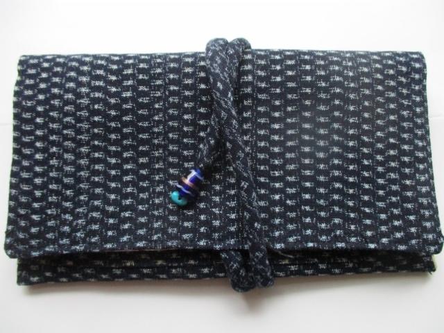 着物リメイク 男絣で作った和風財布  ...
