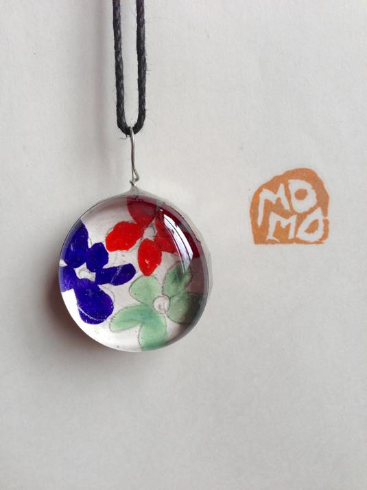 momo2012 ガラスネックレス Drop large