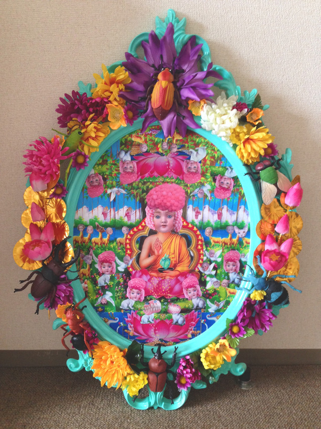 コラージュ「Roe girl buddha」