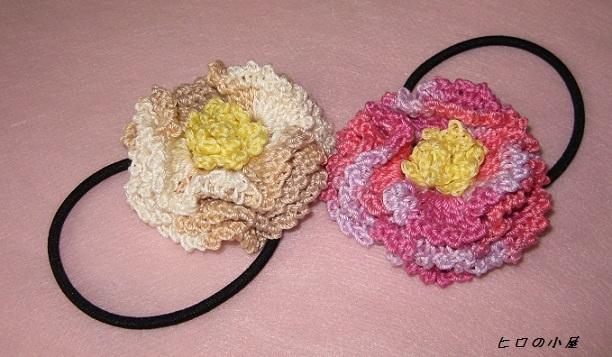 3重の花のヘアゴム<送料無料>
