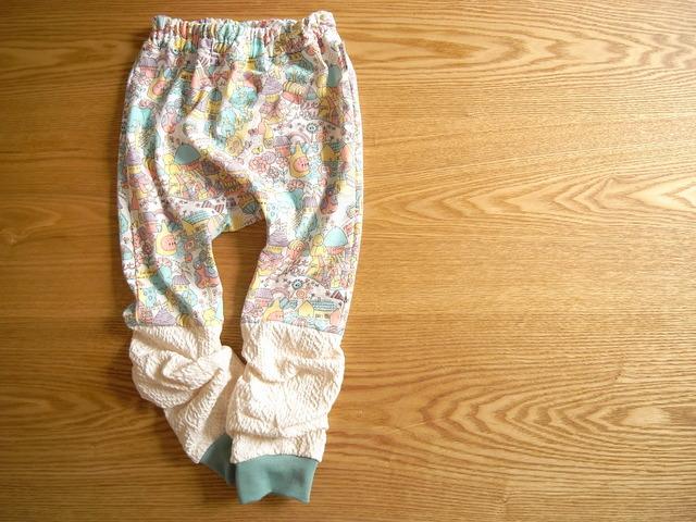 レッグウォーマー付モンキーパンツ・sweetgarden*80-90サイズ