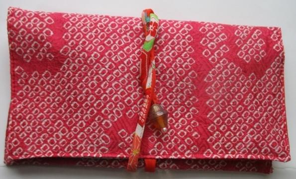 着物リメイク 絞りの羽織で作った和風...