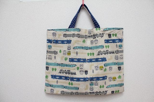 絵本袋 レッスンバッグ (新幹線)