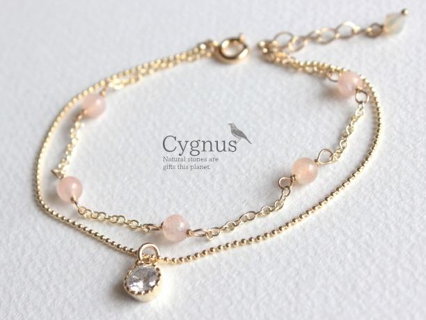cygnus/オレンジムーンストーン6月誕生石