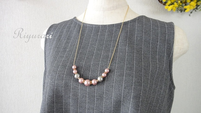 Spring 2Collar Pearl Necklace