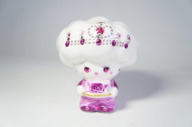 紫のバラチーズ天使