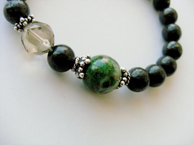 *隕石メテオライトとクリソコラのブレス...