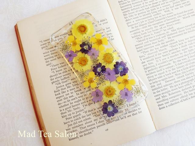 黄色と紫のiphone5.5sカバー
