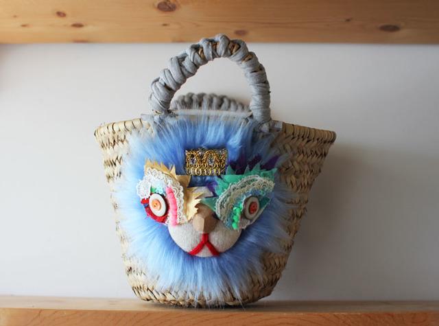 <再販>lion kago bag/S Blue
