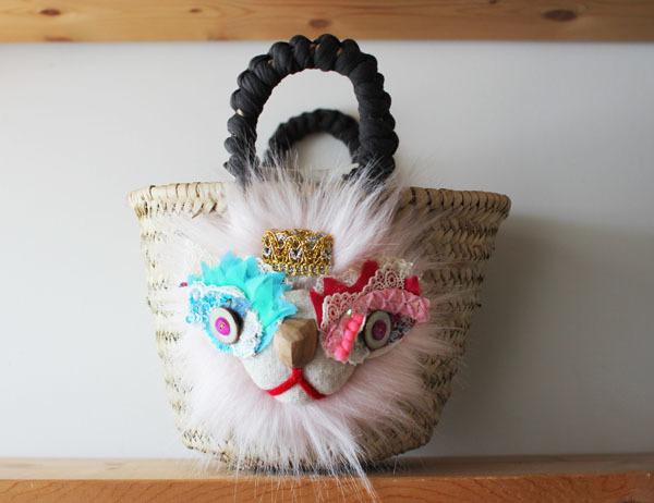 <再販>lion kago bag/S pink