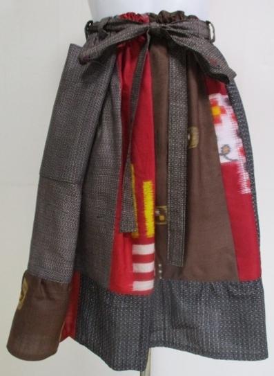 着物リメイク 銘仙と大島の着物で作っ...