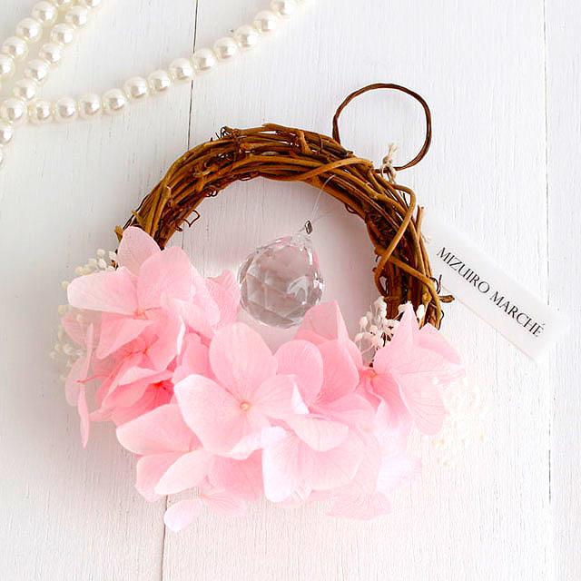 桜色の紫陽花* 小さな小さなミニリース