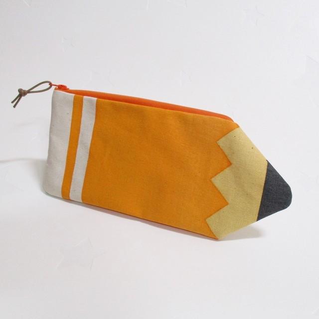 えんぴつペンケース orange