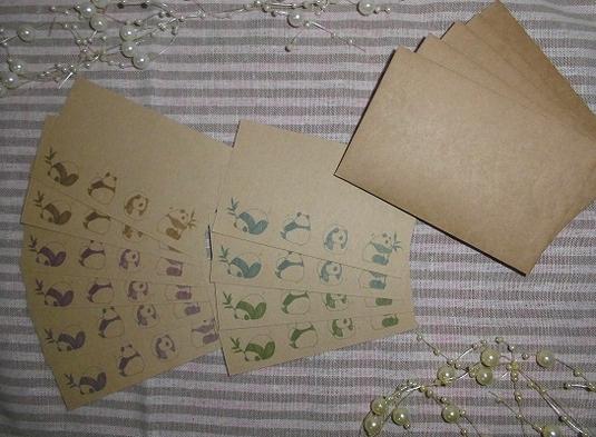 パンダ クラフトメッセージカード 【送料込み】