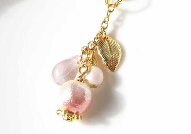 さくら、さくら*桜コットンパールとガラ...