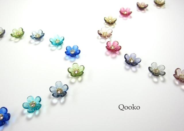 ガラスの花 【クリア・花びら5枚】※...