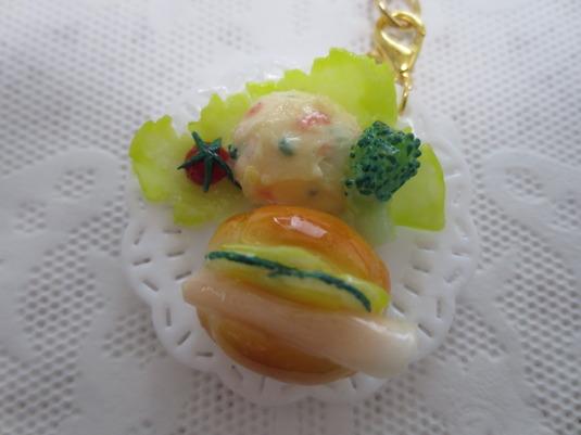☆ハム野菜サンドプレートキーホルダー☆