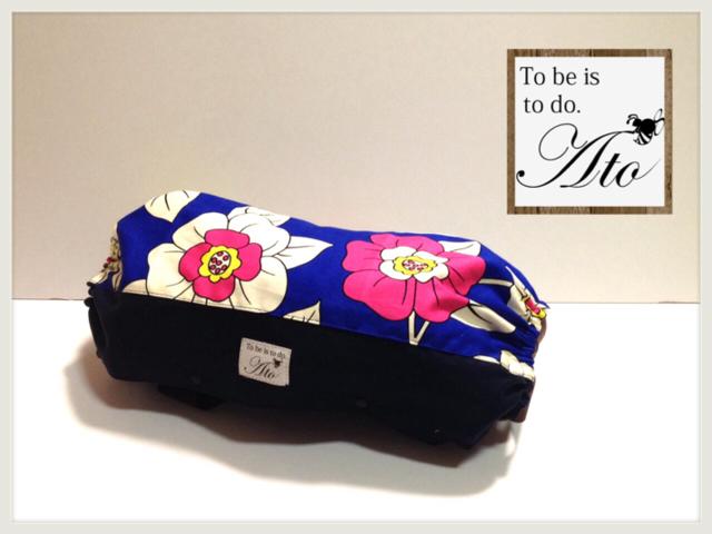 エルゴ収納カバー:リバーシブル(ブルーのお花)