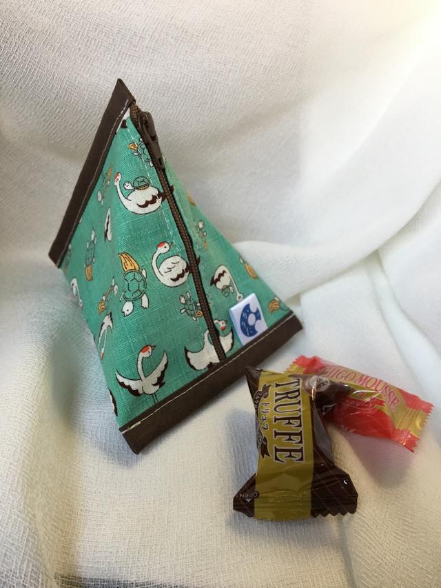 三角ポーチ【つるかめ】