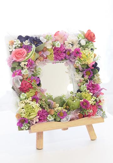 お花のインテリアミラー・記念日・結婚...