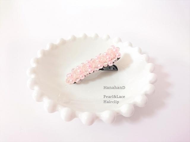 パールヘアクリップ*ピンク